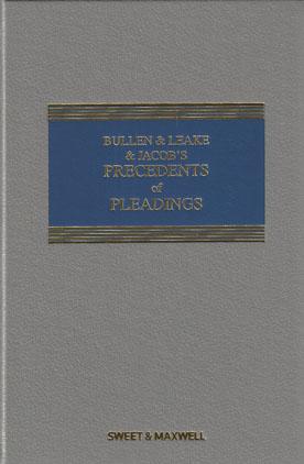 bullen and leake precedents of pleadings pdf