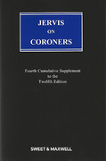 Cover of Jervis on Coroners 12th ed: 4th Supplement