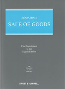 Cover of Benjamin's Sale of Goods 8th ed: 1st Supplement