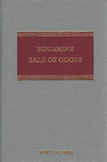 Cover of Benjamin's Sale of Goods 8th ed with 1st Supplement