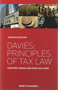 Cover of Davies: Principles of Tax Law