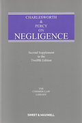 Cover of Charlesworth & Percy on Negligence 12th ed: 2nd supplement