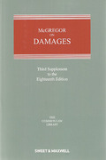Cover of McGregor on Damages 18th ed: 3rd Supplement