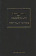 Cover of MacGillivray on Insurance Law: Relating to all Risks Other than Marine 12th ed