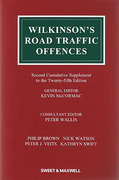 Cover of Wilkinson's Road Traffic Offences 25th ed: 2nd Supplement