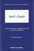 Cover of Snell's Equity 32nd ed: 2nd Supplement