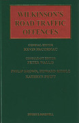 Cover of Wilkinson's Road Traffic Offences 25th ed with 2nd Supplement