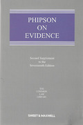 Cover of Phipson on Evidence 17th ed: 2nd Supplement