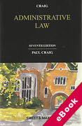 Cover of Administrative Law (eBook)