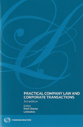 Cover of Practical Company Law and Corporate Transactions