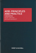 Cover of ADR: Principles and Practice
