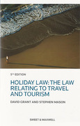 Cover of Holiday Law: The Law Relating to Travel and Tourism