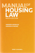 Cover of Manual of Housing Law