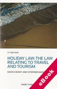 Cover of Holiday Law: The Law Relating to Travel and Tourism (eBook)