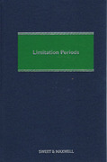 Cover of Limitation Periods 6th ed with 2nd Supplement