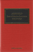 Cover of Arnould's Law of Marine Insurance and Average