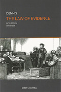 Cover of The Law of Evidence
