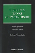Cover of Lindley & Banks on Partnership 19th ed: 2nd Supplement