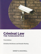 Cover of Criminal Law: The Fundamentals