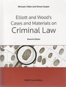Cover of Elliott and Wood's Cases and Materials on Criminal Law