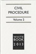 Cover of The White Book Service 2013: Civil Procedure Volumes 1 & 2