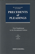 Cover of Bullen & Leake & Jacob's Precedents of Pleadings 17th ed: 1st Supplement