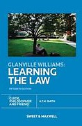 Cover of Glanville Williams: Learning the Law