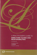 Cover of A Practitioner's Guide to Directors' Duties and Responsibilities