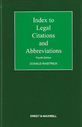 Cover of Index to Legal Citations and Abbreviations