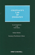 Cover of Colinvaux's Law of Insurance 9th ed: 2nd Supplement