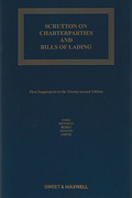 Cover of Scrutton on Charterparties and Bills of Lading 22nd ed: 1st Supplement