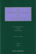 Cover of The Interpretation of Contracts 5th ed: 1st Supplement