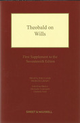 Cover of Theobald on Wills 17th ed: 1st Supplement