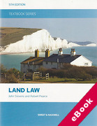 Cover of Textbook Series: Land Law (eBook)