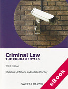 Cover of Criminal Law: The Fundamentals (eBook)