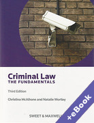 Cover of Criminal Law: The Fundamentals (Book & eBook Pack)