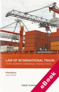 Cover of Law of International Trade: Cross Border Commercial Transactions (eBook)