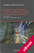 Cover of Intellectual Property: Patents, Copyright, Trade Marks and Allied Rights (eBook)