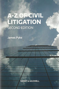 Cover of A-Z of Civil Litigation