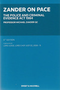 Cover of Zander on PACE: The Police and Criminal Evidence Act 1984 6th ed
