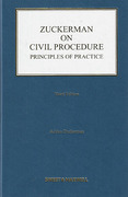 Cover of Zuckerman on Civil Procedure: Principles and Practice