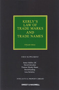 Cover of Kerly's Law of Trade Marks and Trade Names 15th ed: 1st Supplement