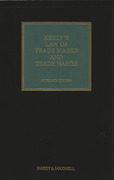 Cover of Kerly's Law of Trade Marks and Trade Names 15th ed with 1st Supplement