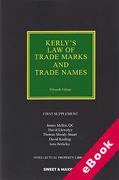 Cover of Kerly's Law of Trade Marks and Trade Names 15th ed: 1st Supplement (eBook)