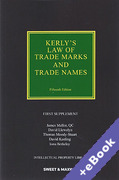 Cover of Kerly's Law of Trade Marks and Trade Names 15th ed: 1st Supplement (Book & eBook Pack)