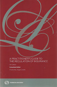 Cover of A Practitioner's Guide to the Regulation of Insurance