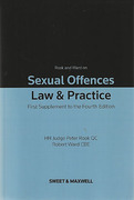 Cover of Sexual Offences: Law & Practice 4th ed: 1st Supplement