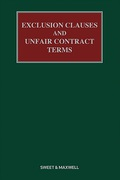 Cover of Exclusion Clauses and Unfair Contract Terms