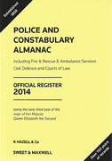 Cover of Police and Constabulary Almanac: Official Register 2014
