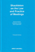 Cover of Shackleton on the Law and Practice of Meetings